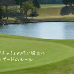 「あ!池ポチャ!」の時に役立つゴルフのハザードのルール