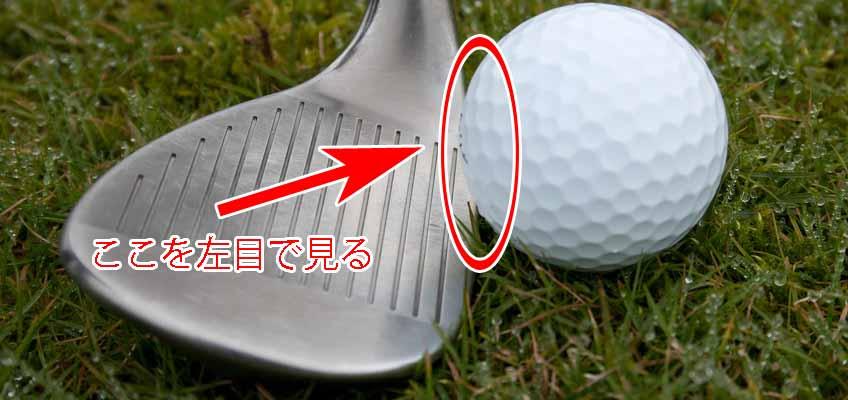 ゴルフインパクト_視線