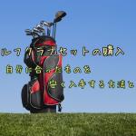 ゴルフクラブセットの購入。自分に合ったものを安く入手する方法とは